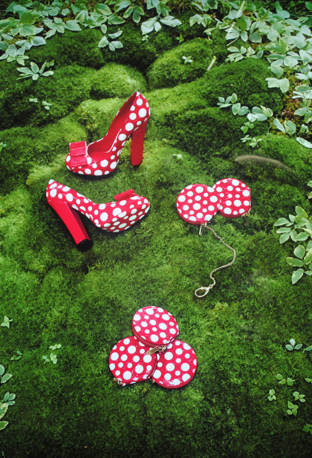 Kusama bags and shoes