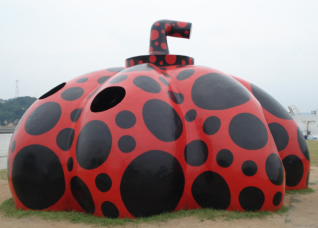 Kusama red and black pumpkin.