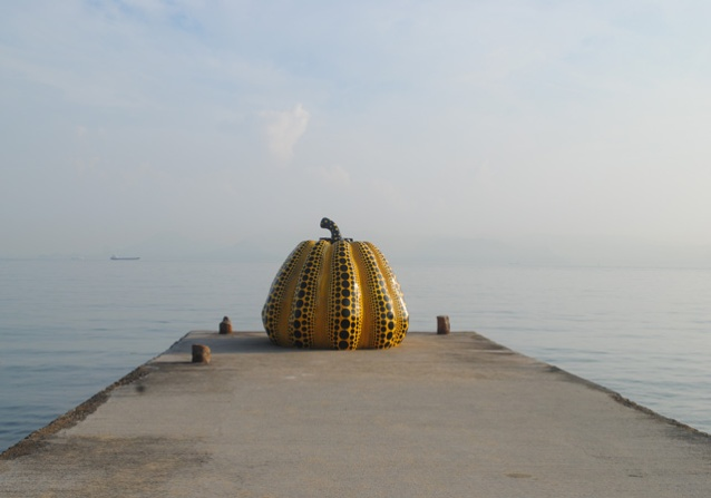 Yayoi Kusama Pumpkin Naoshima inspiration for Marc Jacobs, Louis Vuitton.
