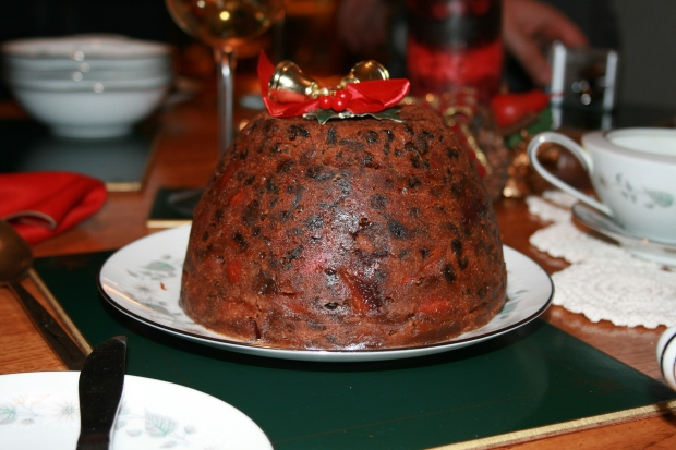 Christmas plum pudding.