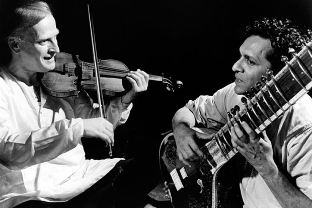 Ravi Shankar and Menuhin