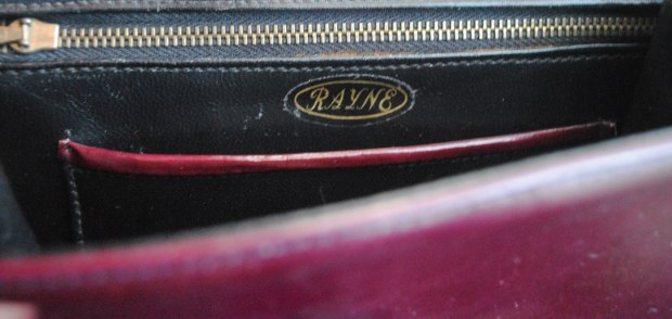 Rayne in the label of the vintage bag.