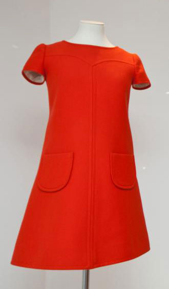 Andres Courreges red mini dress