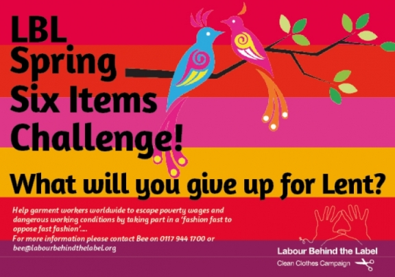 Six Items Challenge - what will you give up for Lent?