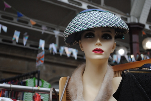 hat on mannequin