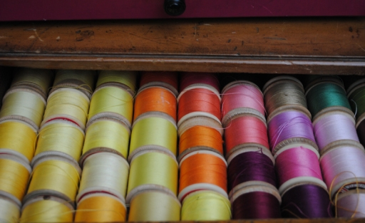 Coloured threads