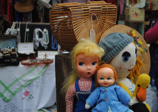 Vintage dolls and toys at Bath Antiques Vintage Fashion Fair