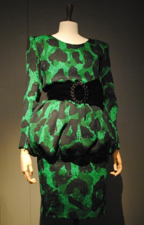 Givenchy dress black and green