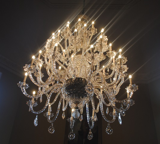 chandelier in the Assembly Rooms Bath